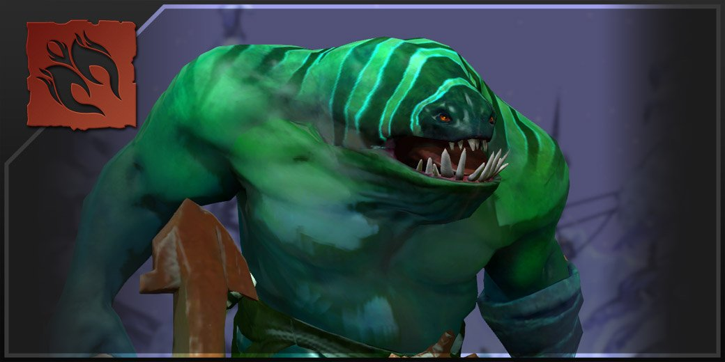 Tidehunter is one of the heroes available in Dota 2 to use in the Offlane position. (Image: DotaFire)